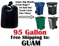 GUAM 95 Gallon Garbage Bags