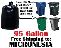 the Federated States of MICRONESIA 95 Gallon Garbage Bags