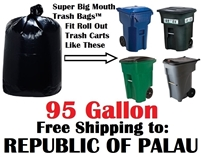 THE REPUBLIC OF PALAU 95 Gallon Garbage Bags