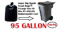 95 Gallon Trash Bags 10 Pack