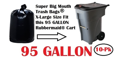 95 Gallon Trash Cart Bags 10 Pack