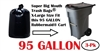 95 Gallon Trash Bags 3 Pack