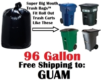 GUAM 96 Gallon Garbage Bags