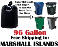The MARSHALL ISLANDS 96 Gallon Garbage Bags