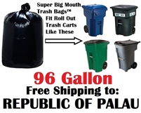 THE REPUBLIC OF PALAU 96 Gallon Garbage Bags