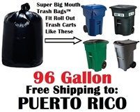 PUERTO RICO Shipping 96 Gallon Garbage Bags