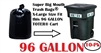 96 Gallon Trash Bags 10 Pack