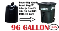 96 Gallon Trash Bags 3 Pack