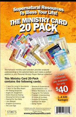 The Ministry Card Collection: 20 Pack (Volume One) - Joshua Mills