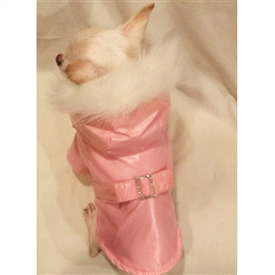 Fur Trimmed Dog Coat