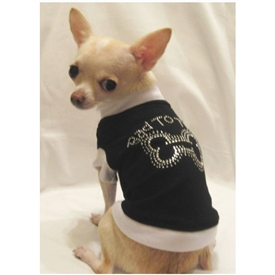 Bad to the Bone BLING Dog Shirt