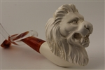 Deluxe Hand Carved Meerschaum Pipes - Lion