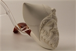 Deluxe Hand Carved Pirateh Meerschaum Pipe