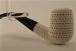 Deluxe Hand Carved Lattice Billiard Meerschaum Pipes