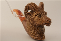 Special Hand Carved Goat Meerschaum Pipes