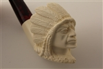 Special Hand Carved Indian By Master Carver R. Karaca Meerschaum Pipe