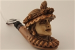 Special Hand Carved Victorian Lady Meerschaum Pipe