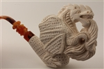Special Hand Carved Dragon Meerschaum Pipe
