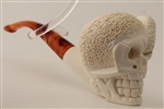 Deluxe Hand Carved Skull & Snake Meerschaum Pipes