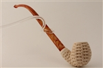 Deluxe Hand Carved Basket Churchwarden Meerschaum Pipes