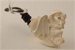 Deluxe Hand Carved Dragon by Master Carver R. Karaca Meerschaum Pipe