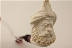 Deluxe Hand Carved Sultan by Master Carver R. Karaca Meerschaum Pipe