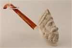 Deluxe Hand Carved Zeus Churchwarden Meerschaum Pipes