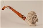 Deluxe Hand Carved Indian Churchwarden Meerschaum Pipes