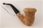 Special Hand Carved Calabash Rusticated Dark Finish Meerschaum Pipe