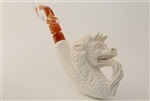 Special Hand Carved Dragon Head Meerschaum Pipe