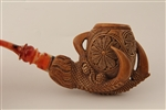 Deluxe Hand Carved Eagle's Claw Dark Finish Meerschaum Pipe
