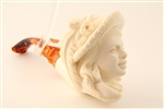 Special Hand Carved Victorian Lady By Master Carver E. Cevher Meerschaum Pipe