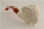 Special Hand Carved Basket in Eagle's Claw Meerschaum Pipe