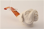 Special Hand Carved Bulldog Meerschaum Pipe