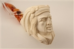 Special Hand Carved Big Chief Meerschaum Pipe