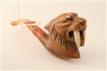 Deluxe Hand Carved Saber Tooth Tiger Meerschaum Pipe