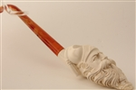 Deluxe Hand Carved Dunhill Churchwarden Meerschaum Pipe