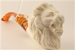 Special Hand Carved Lion Meerschaum Pipe