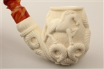 Special Hand Carved Running Horses Meerschaum Pipe