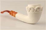 Special Hand Carved Fantasy Smooth Meerschaum Pipe