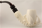 Special Hand Carved Ultra Deluxe Eagle's Claw Meerschaum Pipe