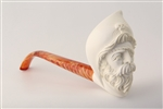 Deluxe Hand Carved Pirate Churchwarden Meerschaum Pipe