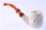 Special Hand Carved Mariner's Meerschaum Pipe