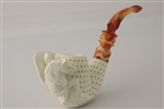 Hand Carved Pegasus Block Meerschaum Pipe