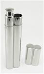 Stainless Steel Cigar Holder & Flask