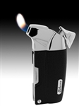 Black Lacardo Soft Traditional Flame Pipe and Cigar Lighter