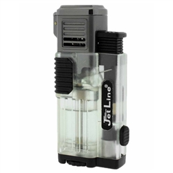 JetLine Gotham Lite Quad Jet Torch Cigar Lighter Clear