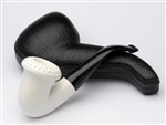 Hand Carved Calabash Lattice Top Meerschaum Pipe