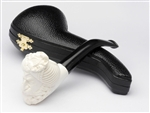 Hand Carved Sultan Meerschaum Pipe