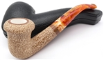 Deluxe Hand Carved Colored and Textured Calabash Meerschaum Pipe